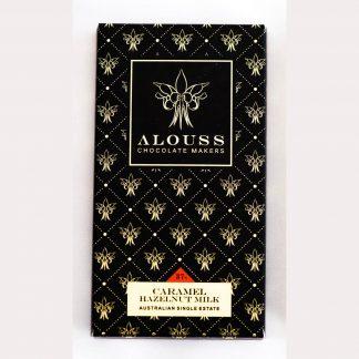 Alouss Caramel Hazelnut Milk Chocolate Bar