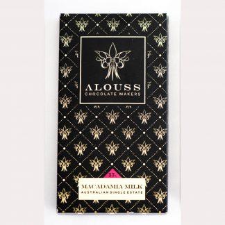Alouss Macadamia Milk Chocolate Bar